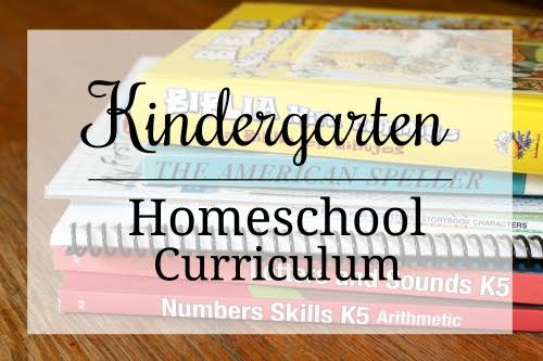 Kindergarten homeschool Curriculum