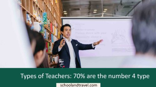 Types of Teachers: 70% are the number 4 type