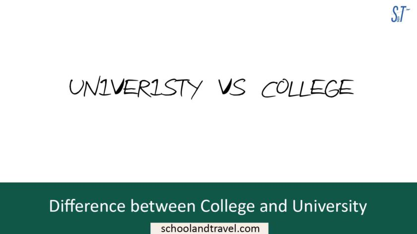 Difference between College and University