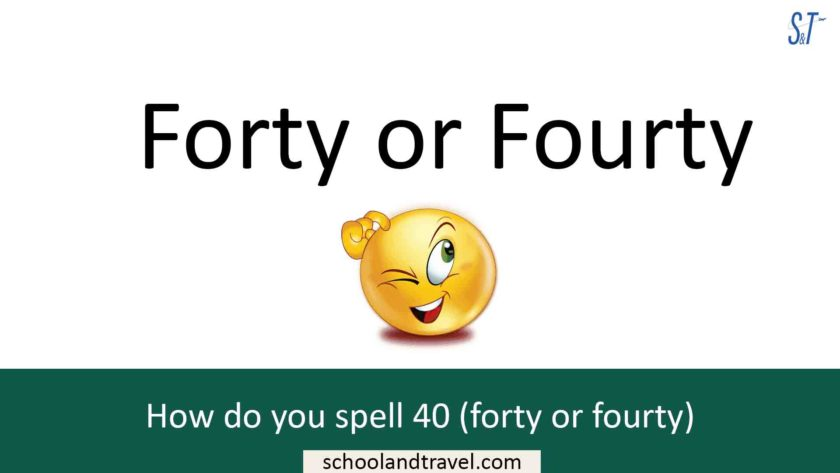 forty or fourty