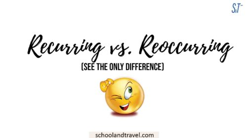 Recurring vs. Reoccurring