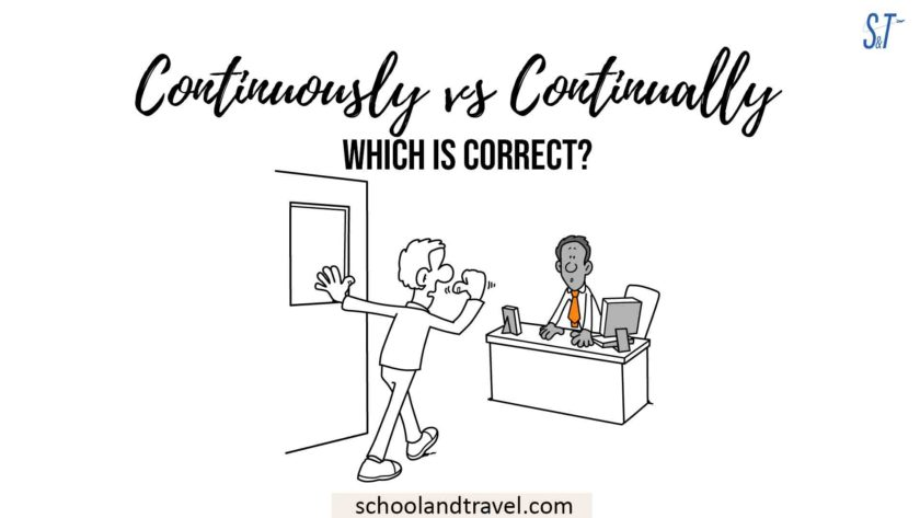 Continuously vs Continually