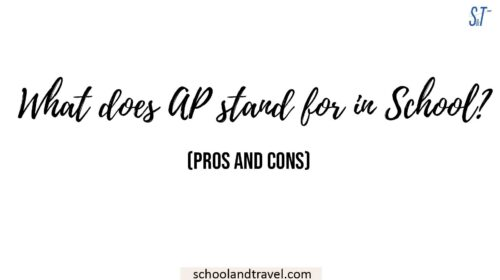 What does AP stand for in School