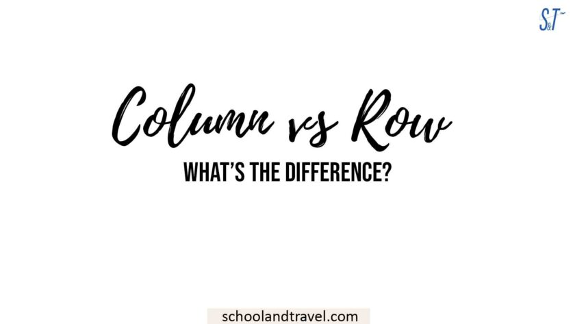 column vs row
