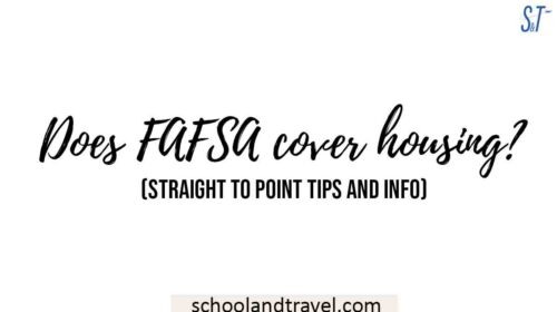 Does FAFSA cover housing
