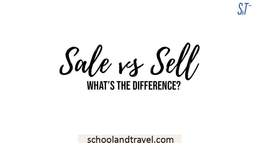 Sale vs Sell
