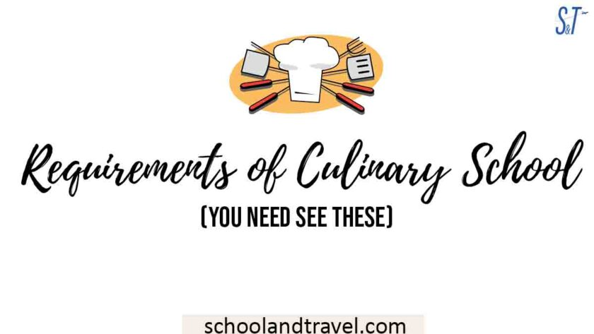 Requirements of Culinary School