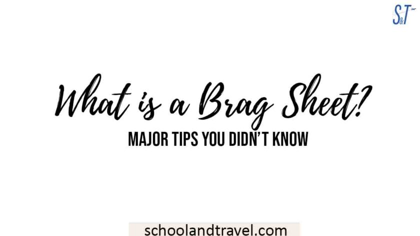 What is Brag Sheet