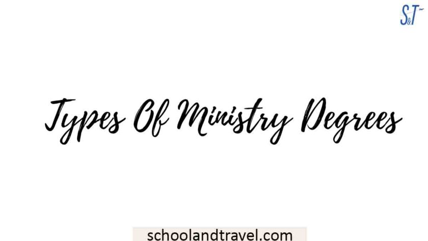 Types Of Ministry Degrees